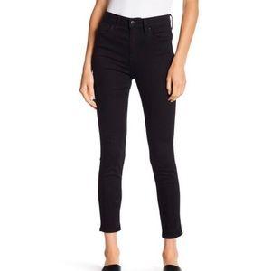 Joe's Jeans High Rise Straight Black Jean